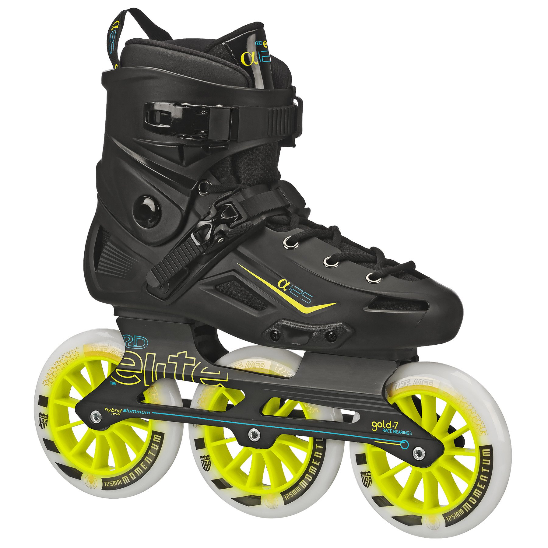 Roller Derby Elite Alpha 125mm 3-Wheel Inline Skate, 12