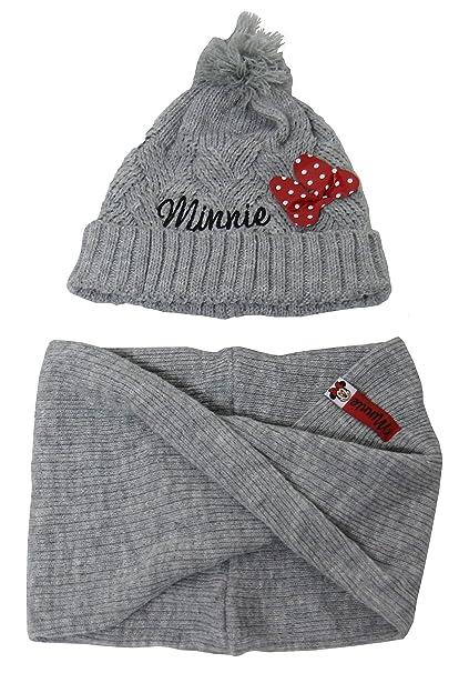 Disney Set Completo Minnie Mouse Cappello PON PON e Scaldacollo Bambina  Taglia Unica Colore Grigio  Amazon.it  Abbigliamento 875e90cb99c6