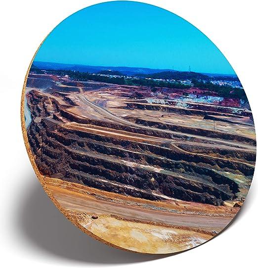 1 posavasos redondo de cobre con diseño de mina de Atalaya España #3211: Amazon.es: Hogar