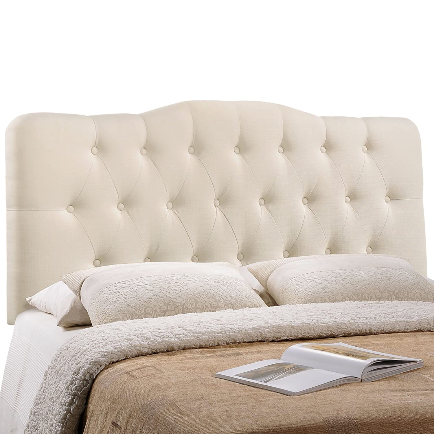 l linen bed headboard headboards tufted fabric lynn alessandra upholstered buttons white lili