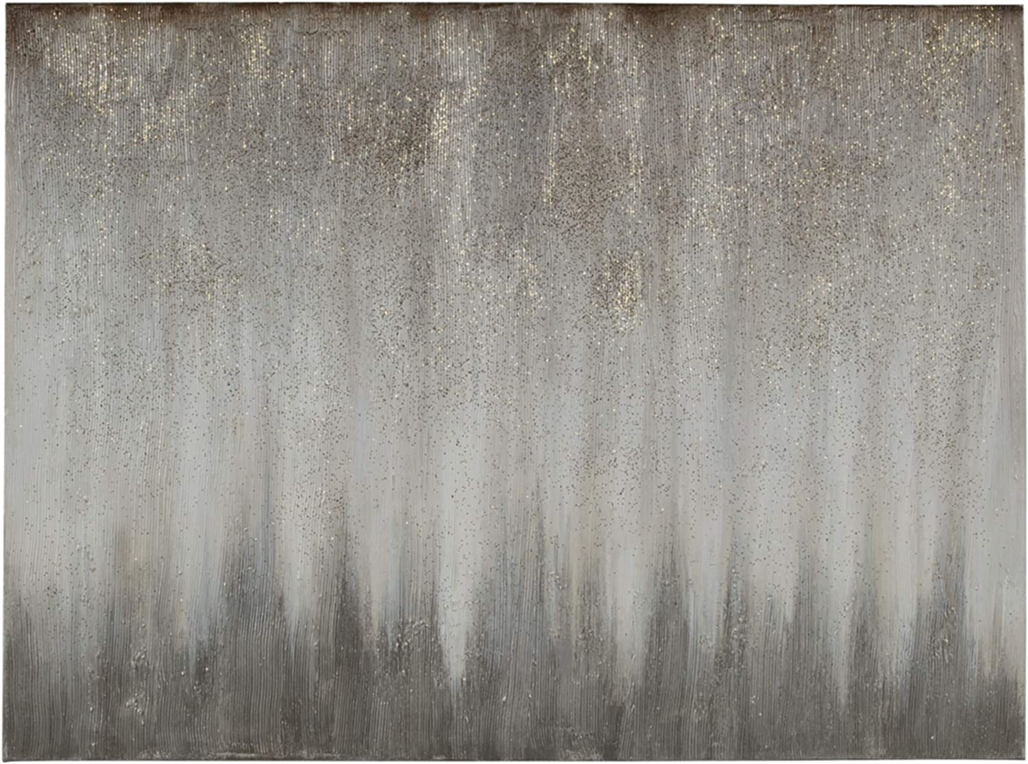 Signature Design by Ashley Paytah Glitter Gallery Wrapped Canvas 47 x 35 inches, Silver