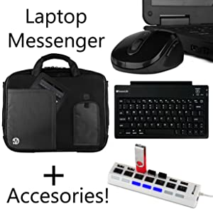 Shoulder Bag for Acer Iconia, Spin, Switch, with Wireless Keyboard,Mouse,HUB