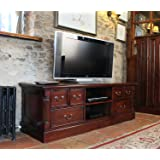 baumhaus la roque widescreen television cabinet hand crafted solid mahogany