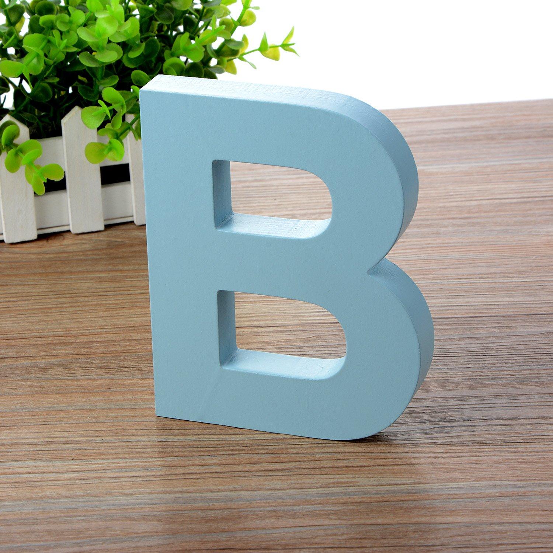 Doolland Aus Holz Zum Aufhngen Wand Buchstaben A Z Blau Deko