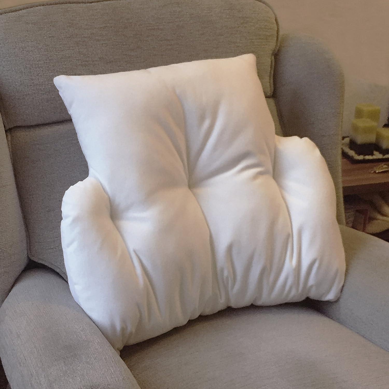 Fabbricato da Bedding Direct UK in Gran Bretagna. in velour in pile Cuscino per sostegno lombare per massimo comfort