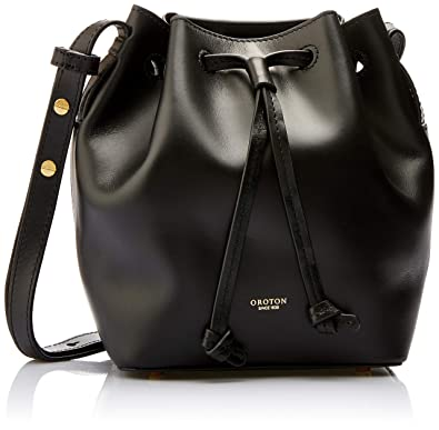 5c53ff24a6ea Oroton Women's Escape Mini Bucket Bag, Black, One Size: Amazon.com ...