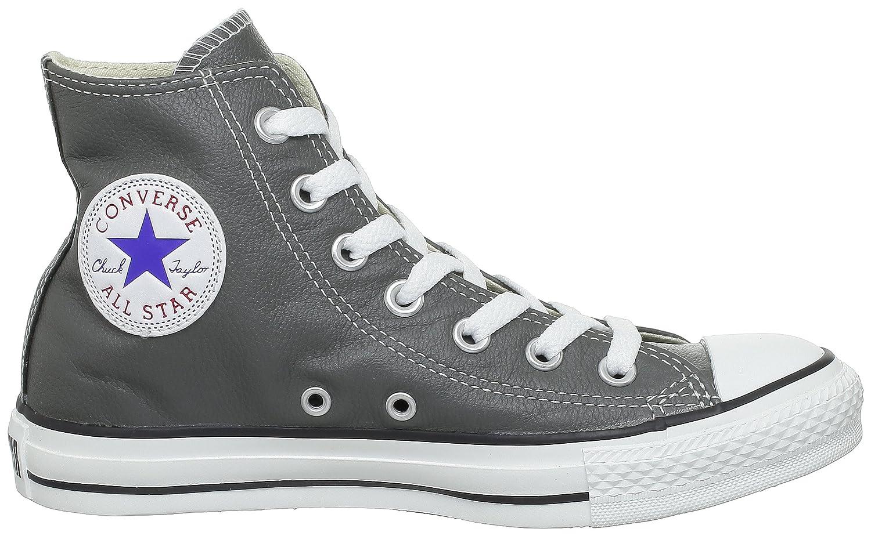 Converse Chucks Leder, Taylor All Star Hi Leder, Chucks Unisex - Erwachsene Sneaker Grau (Anthrazit) bdc8e6