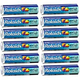 Tj7 Rolaids Assorted Fruit Extra Strength Heartburn Acid Indigestion Fast Acting Rapid Relief - 12 Rolls of 10 Antacid Chewable Tablets (120 Tablets Total)