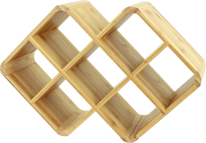 8-Bottle Oenophilia Bamboo Wine Rack