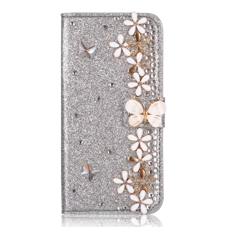 Bookstyle Bling Loves f/ür Samsung S10,Glitter Glitzer Diamond Musterg Slim Retro Klassisch Modisch Ledertasche Stand Funktion Kartenfach Magnetverschluss Flip Wallet H/ülle Schutzh/ülle