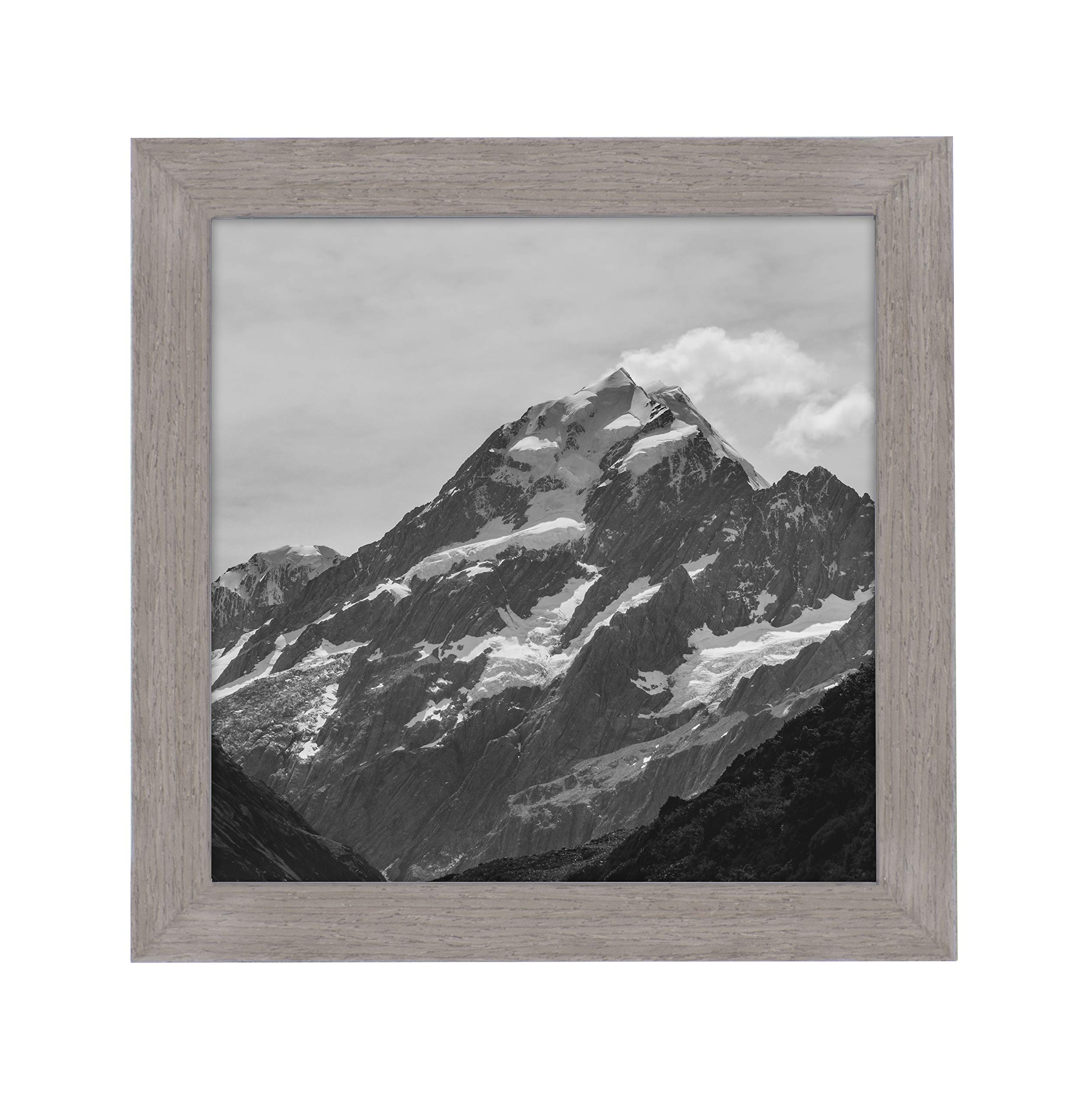 EcoHome 8x8 Picture Frame Square - Walnut Wood, or 4x4 Matted Frame, Modern Square Shape, Photos
