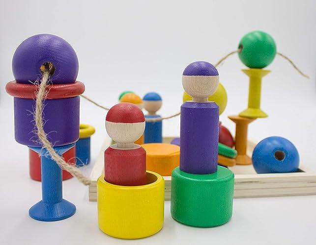 Motorikspielzeug XXXL Baby Set Holzspielzeug