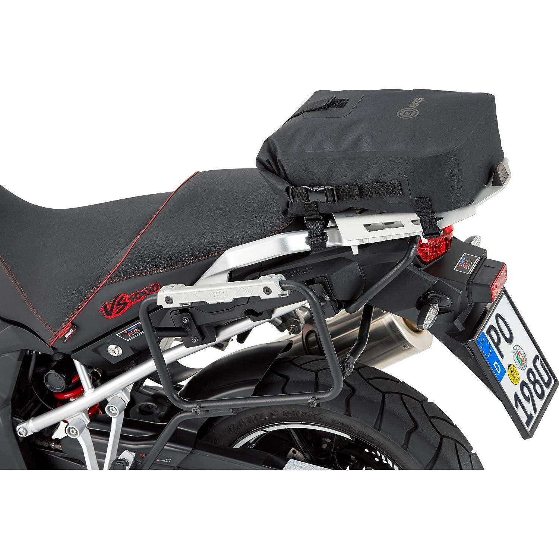 Bolsa de estribo QBag trasera para moto, 10 –  17 litros, color negro 10-17litros
