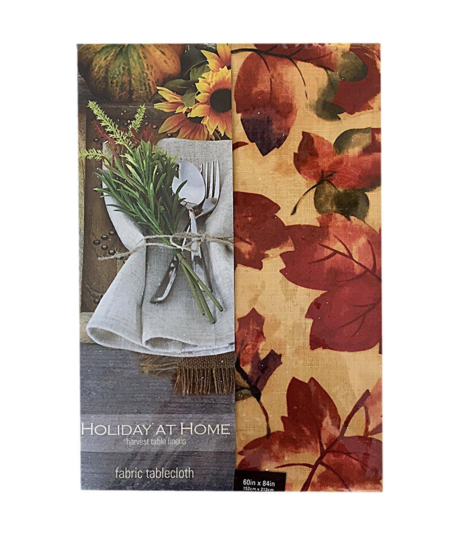 Harvest Leaf Festival Autumn and Thanksgiving  Fabric Print Napkin Set, Set of 8 Napkins by Newbridge (Image #3)