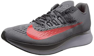 097d26b4774f Image Unavailable. Image not available for. Color  Nike Men sZoom Fly  Running Shoe Gunsmoke Bright Crimson-Thunder Grey 8.0