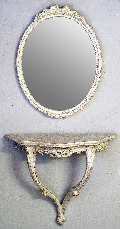 Console et miroir mural