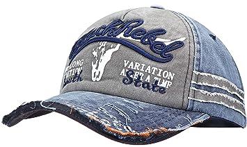 Wilhelm Sell® Gorra de béisbol Vintage | Gris y Azul | Un tamaño | Tamaño
