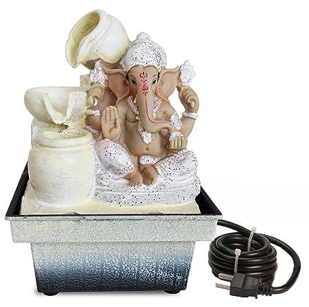 Tied Ribbons Ganesha Water Fountain (12.5 x 12.5 x 18)