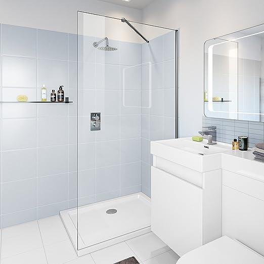 1000 mm mampara de ducha pantalla mojada + 1000 x 700 mm de vidrio ...