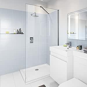 1000 mm mampara de ducha pantalla mojada + 1000 x 700 mm de vidrio bandeja de piedra: iBathUK: Amazon.es: Hogar