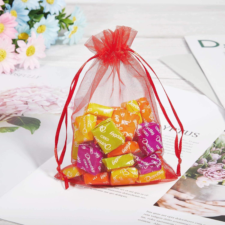 No/ël et Autre f/ête Bapt/ême Communion Bijoux Atuka 100pcs Sachets Pochettes Cadeau en Organza 10 * 15cm Sacs /à Bonbons pour Mariages Beige Anniversaire Naissance