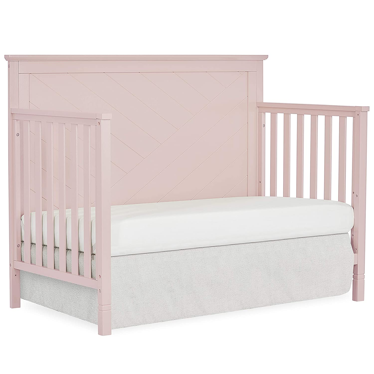 Black Dream On Me Skyline 5 In 1 Convertible Crib