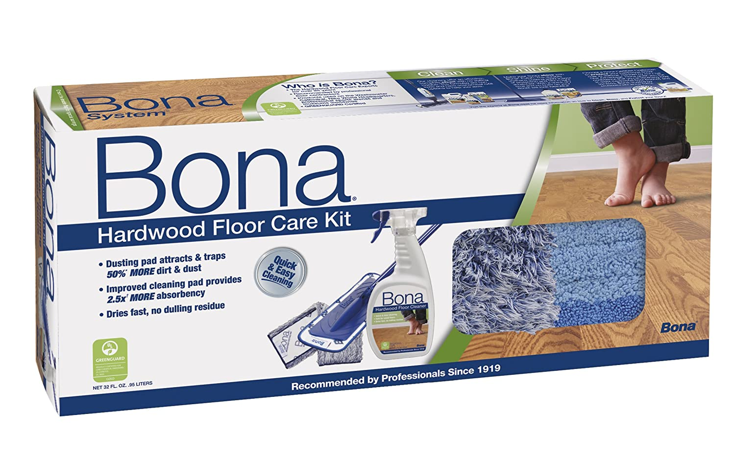 Bona Hardwood Floor Care System, 4-Piece Set WM710013358