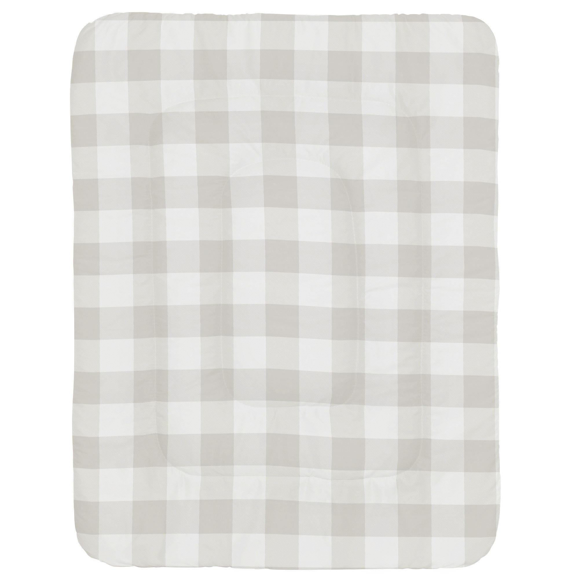 Carousel Designs French Gray and White Buffalo Check Crib Comforter