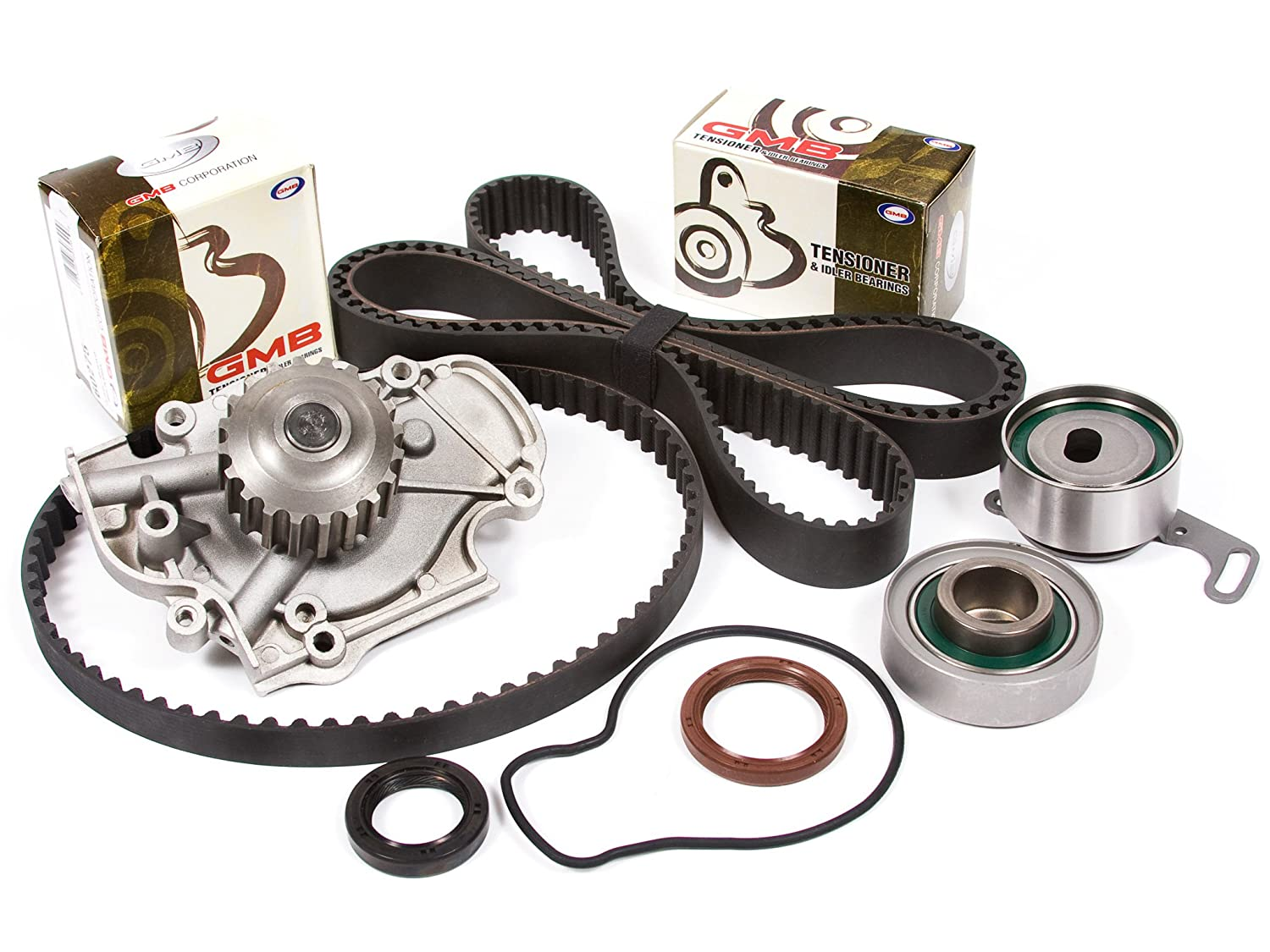 Evergreen TBK244WPT 94-02 Acura CL Honda Accord Odyssey Isuzu Oasis 2.2 2.3 F22B1 F23A1 F23A4 F23A5 F23A7 Timing Belt Kit Water Pump Evergreen Parts And Components