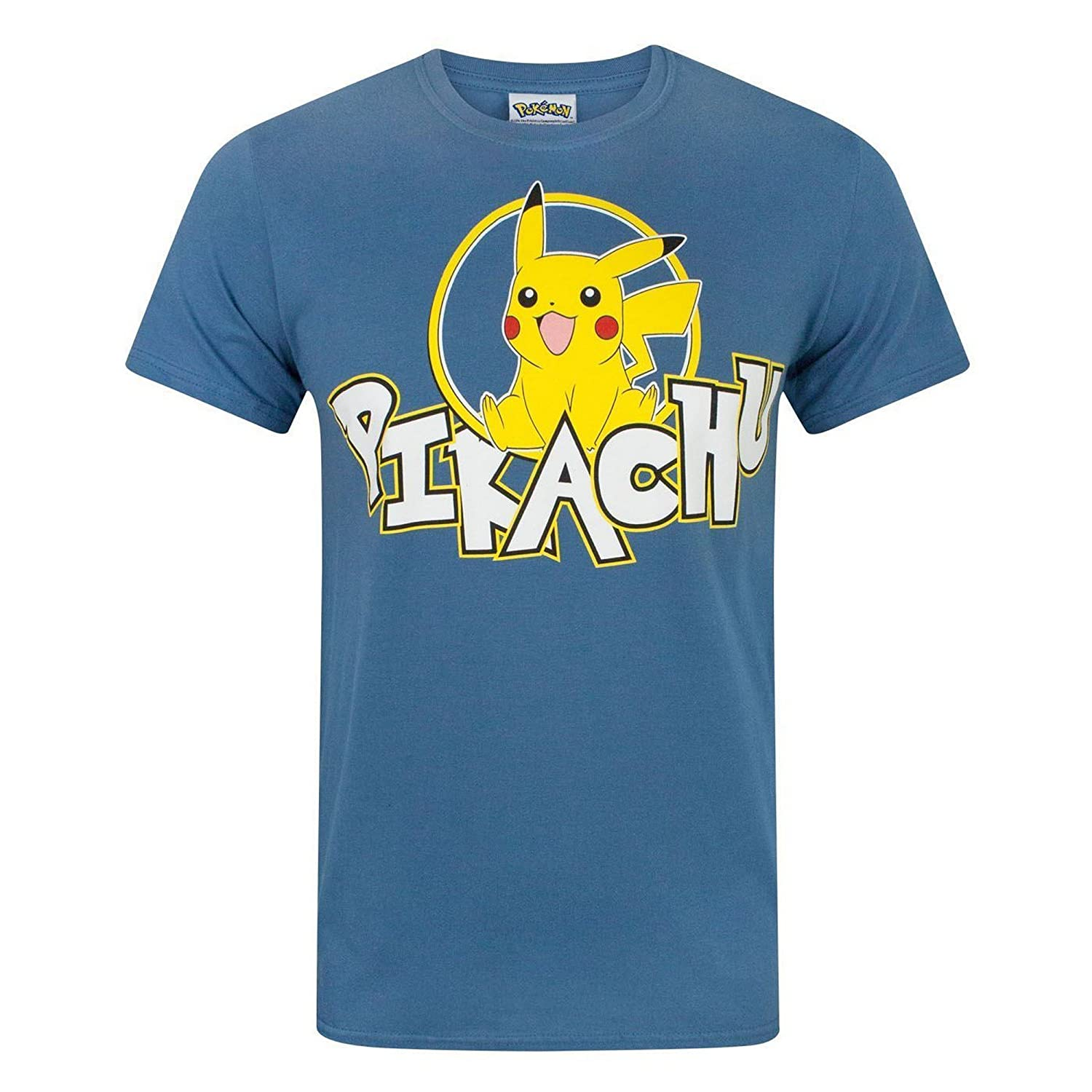 5d609fe15 Pokemon Pikachu Men's T-Shirt (XXL) Blue: Amazon.co.uk: Clothing