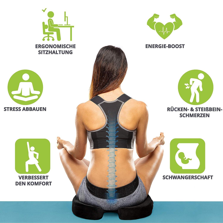 Orthopädisches Sitzkissen für den Rücken