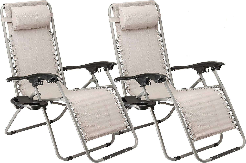 Sunmer Set Of 2 Sun Lounger Garden Chair