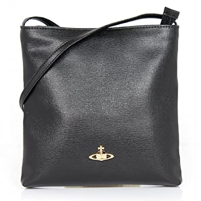 fee6276a4 Vivienne Westwood Saffiano 6571 Crossbody Bag Black: Amazon.co.uk: Shoes &  Bags