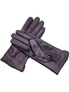 e0d76082c YISEVEN Women's Touchscreen Lambskin Dress Leather Gloves Flat Design Button