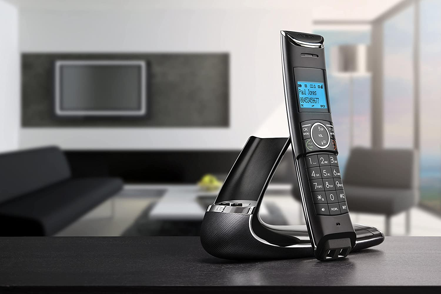 AEG Boomerang Cordless Phone Black Carbon Design Limited Edition ...