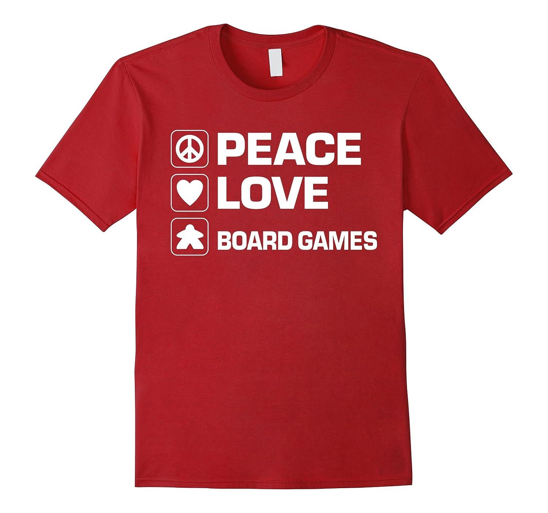 Peace Love Board Games Meeple t-shirt-FL