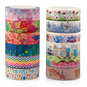 Unique Masking Washi Tape Collection for Arts and DIY C...