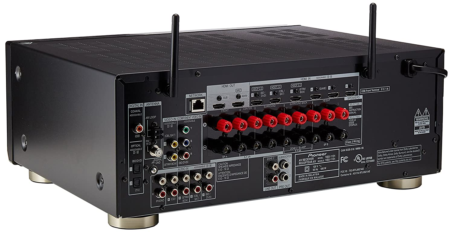 Amazon.com: Pioneer VSX-1131 7.2-Channel AV Receiver with MCACC ...