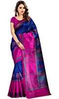 Miraan Women's Kora Silk Saree With Blouse Piece