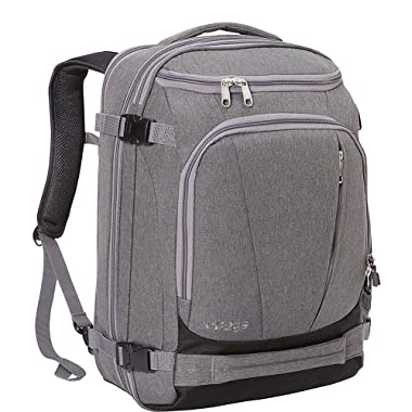 eBags TLS Mother Lode Weekender Junior 19  Carry-On Travel Backpack - Fits Up to 17.5  Laptop - (Heathered Graphite)