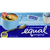 Equal Zero Calorie Sweetener, 800-Count Single-Serve Packets 1-3/4lb