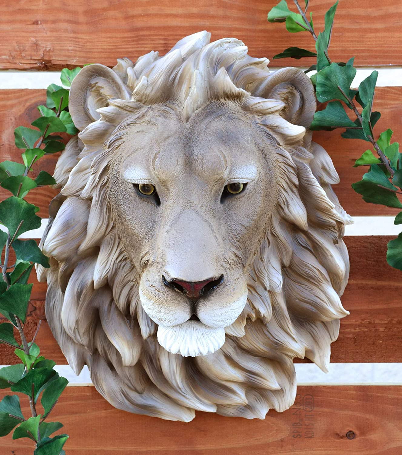 Amazon Com Ebros Mufasa Lion Head Wall Decor Plaque 16 Tall Taxidermy Art Decor Sculpture Alpha Pride Lion King Wall Bust Plaque Home Kitchen