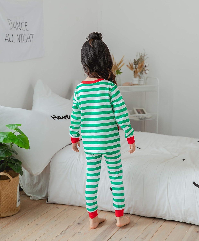 Dizoon Kids Christmas Pajamas Set 100/% Cotton 2 Piece