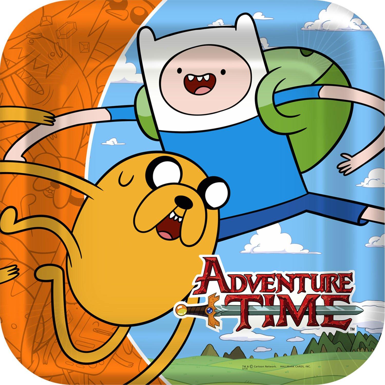 Hallmark 8ct Adventure Time Large Paper Plates