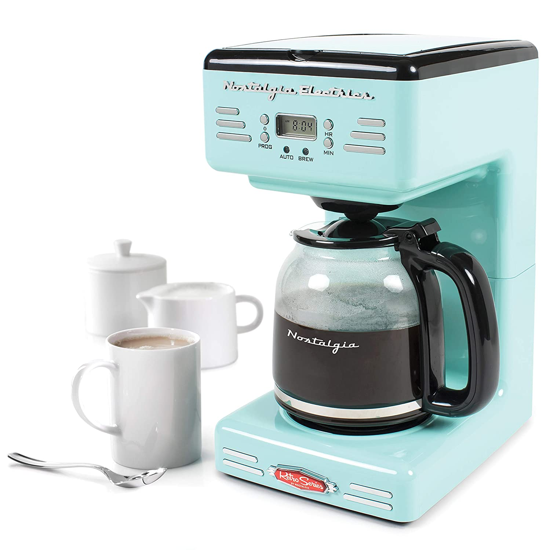Amazon.com  Nostalgia RCOF120AQ Retro 12-Cup Programmable Coffee Maker -  Aqua Blue  Kitchen   Dining f504a726ff23