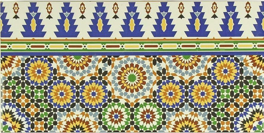Bordure De Carrelage Oriental Marocain Temara 50 X 25 Cm Belle Decoration Murale Dans La Salle De Bain Et Le Fond De Cuisine Fl50589a 1 Amazon Fr Bricolage