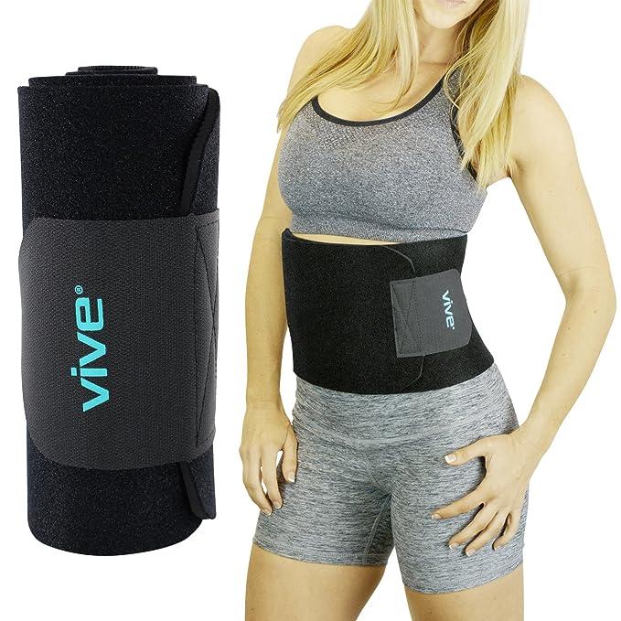 54184a0a72 Vive Waist Trimmer - Tummy Trainer Wrap - Stomach Slimmer