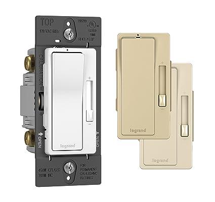 Legrand - Pass & Seymour radiant RHCL453PTCCCV6 120 Volt CFL/LED Dimmer, Tri-