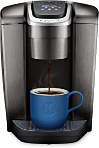 Keurig K-Elite Coffee Maker, Single Serve K-Cup Pod Coffee Brewer, With Iced Coffee Capability, Brushed Slate