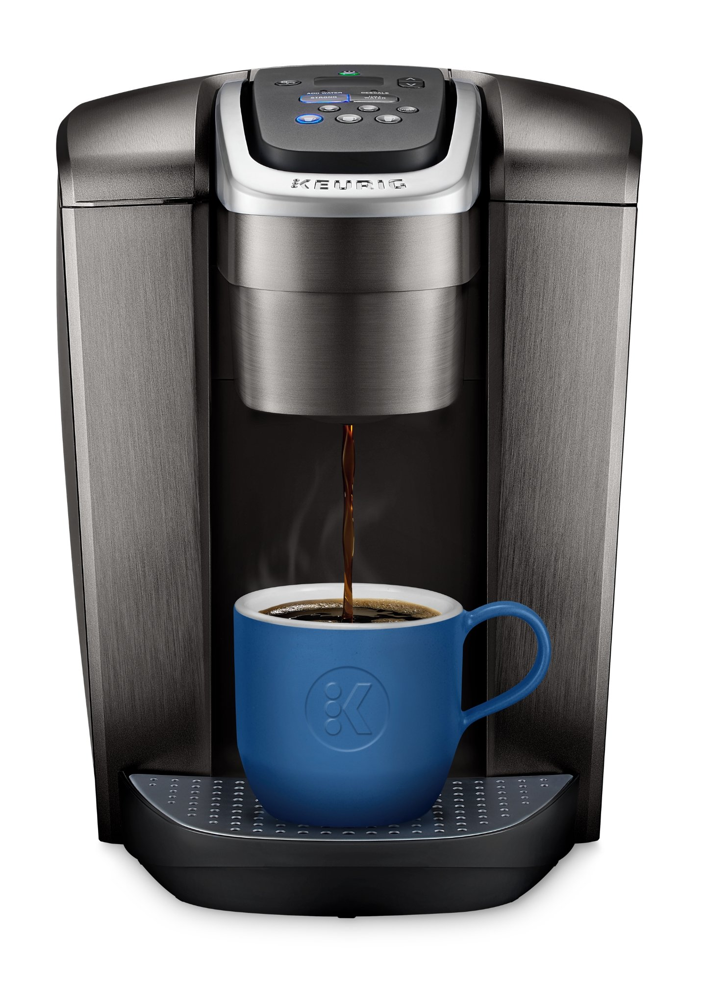 Keurig K-Elite Coffee Maker, Single Serve K-Cup Pod Coffee Brewer, With Iced Coffee Capability, Brushed Slate by Keurig